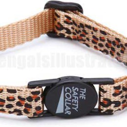 Leopard Print Cat Safety Collar