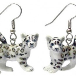Snow Bengal Cat Earrings