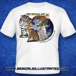 Most Popular Breed Bengal Cat T-shirt