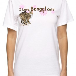 I Love Bengal Cats T-shirt