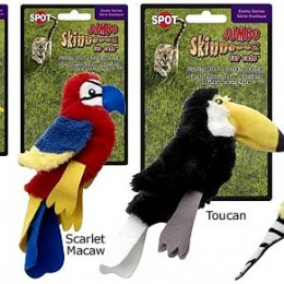 Stuffingless Birds Cat Toy