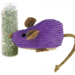 Corduroy Refillable Mouse – Cat Toy