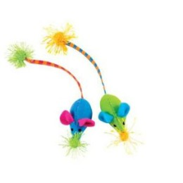 Tassle Tailed Mice – Cat Toy