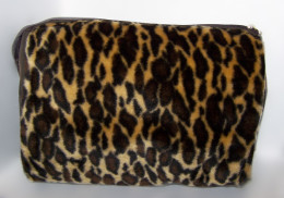 Plush Leopard Travel Bag