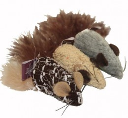 Brown Mouse Catnip Cat Toy