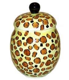 Leopard Print Treat Jar or Cookie Jar