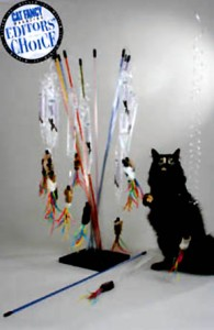 Spring Action Cat toy Teaser Wand