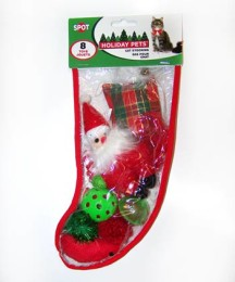 Clear Poly Filled Cat Christmas Stocking