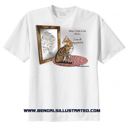 Bengal Cat Sees an ALC in the Mirror T-shirt