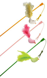 Light Up Bird Wand Teaser Cat Toy