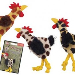 Animal Print Chicken Cat Toy
