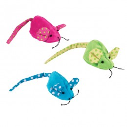 Polka Dot Stuffingless Mouse Cat Toy
