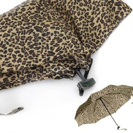 Leopard Print Travel Umbrella