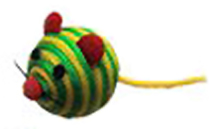 Nylon Rope Mouse Cat Toy
