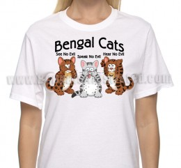 Hear Speak See No Evil Bengal Cats – T-shirt