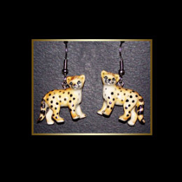Brown Spotted Bengal Cat Earrings