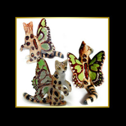 Butterfly Bengal Porcelain Miniature