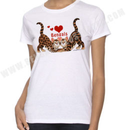 Bengal Cat Tshirts Bengal Cats Bengals Illustrated