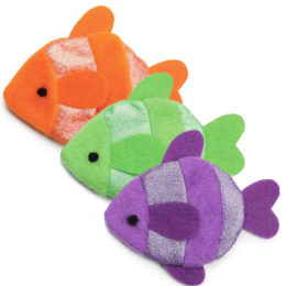 Flatty Fish Cat Toy w/Catnip Refill